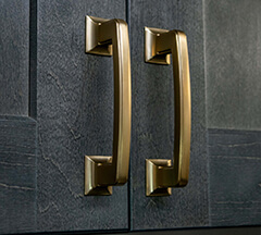 Berenson Hearthstone Modern Brushed Gold Pulls