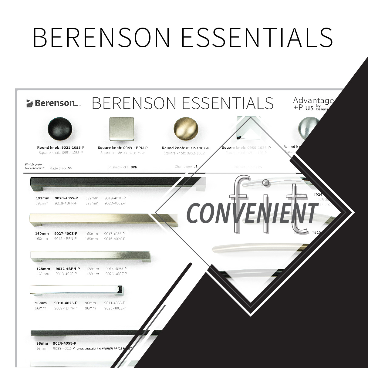 Berenson Essentials Convenient Fit Hardware