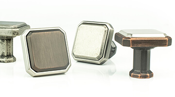 Berenson Harmony Collection Mixed Metal Knobs