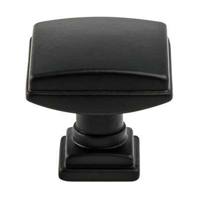 Tailored Tradition. Matte Black Knob