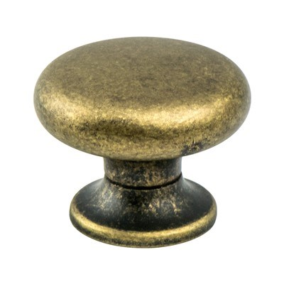 Euro Retro Dull Antique Brass Knob