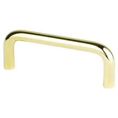 Adv-Wire Pulls 3in Polished Brass Pull