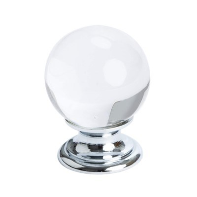 Europa Crystal Ball Polished Chrome Knob