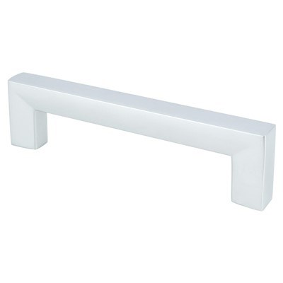 Square 96mm Dull Chrome Pull