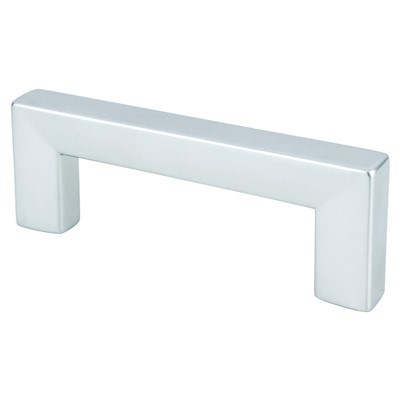 Square 64mm Dull Chrome Pull