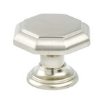 Euro Classica Brushed Nickel Knob