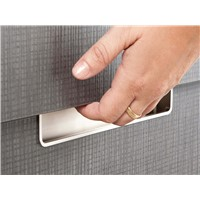 Recess Satin Nickel Recessed Pull